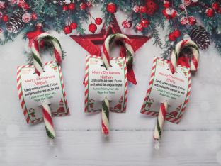 Candy Cane gift from your family elf to your child